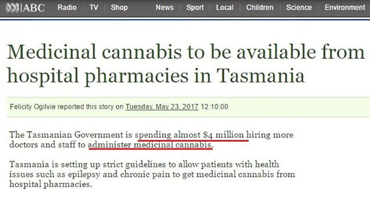 Medicinal cannabis will be available in Tasmania