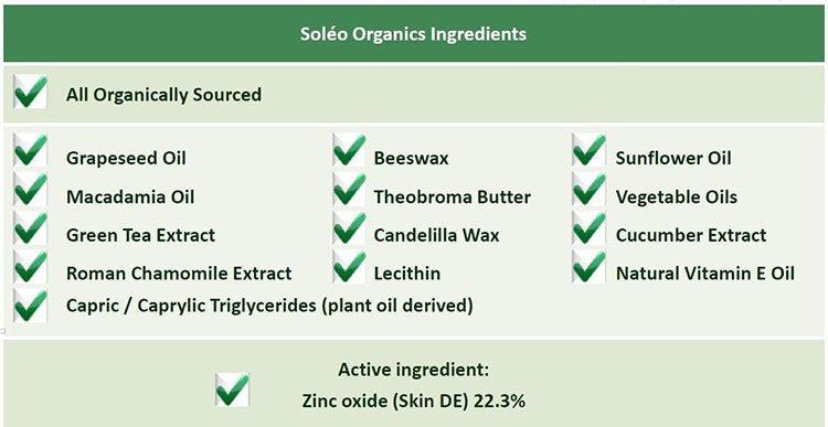 skin elements ingredients