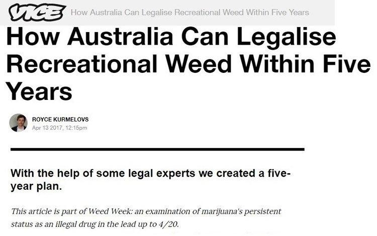 Australia weed legal